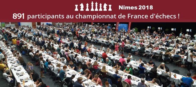 891 joueurs pour le France Nîmes 2018 !