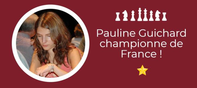 Pauline Guichard championne de France !