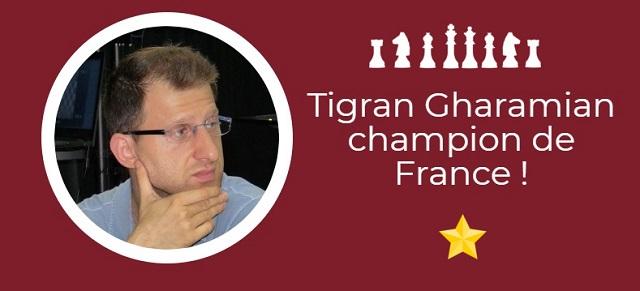 Tigran Gharamian champion de France !
